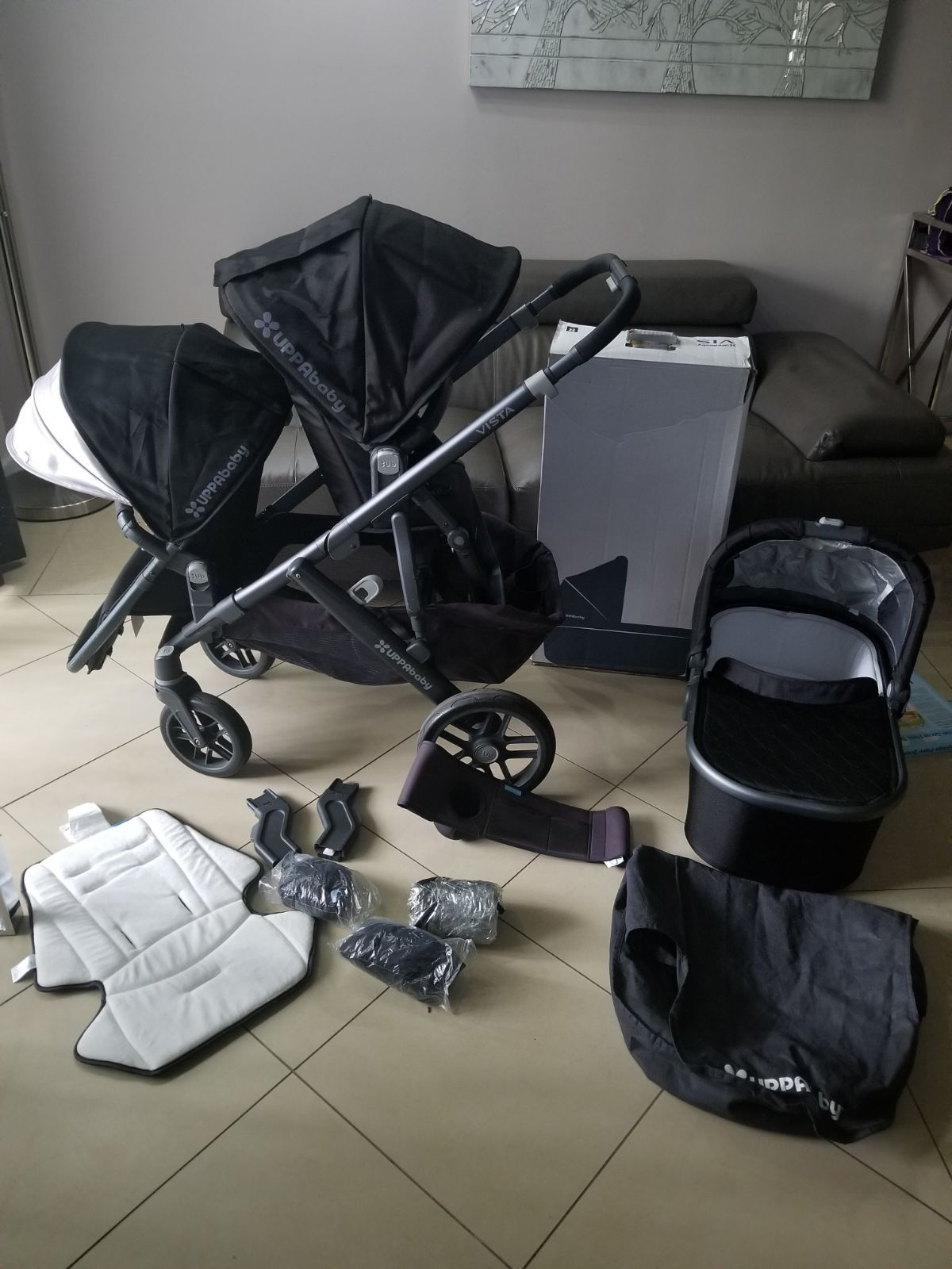 All accessories are included Stroller, toddler seat and