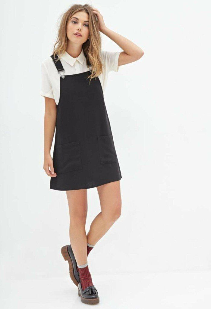 Exceptionnel Comment porter la robe salopette? Les meilleures idées de tenues  ML48