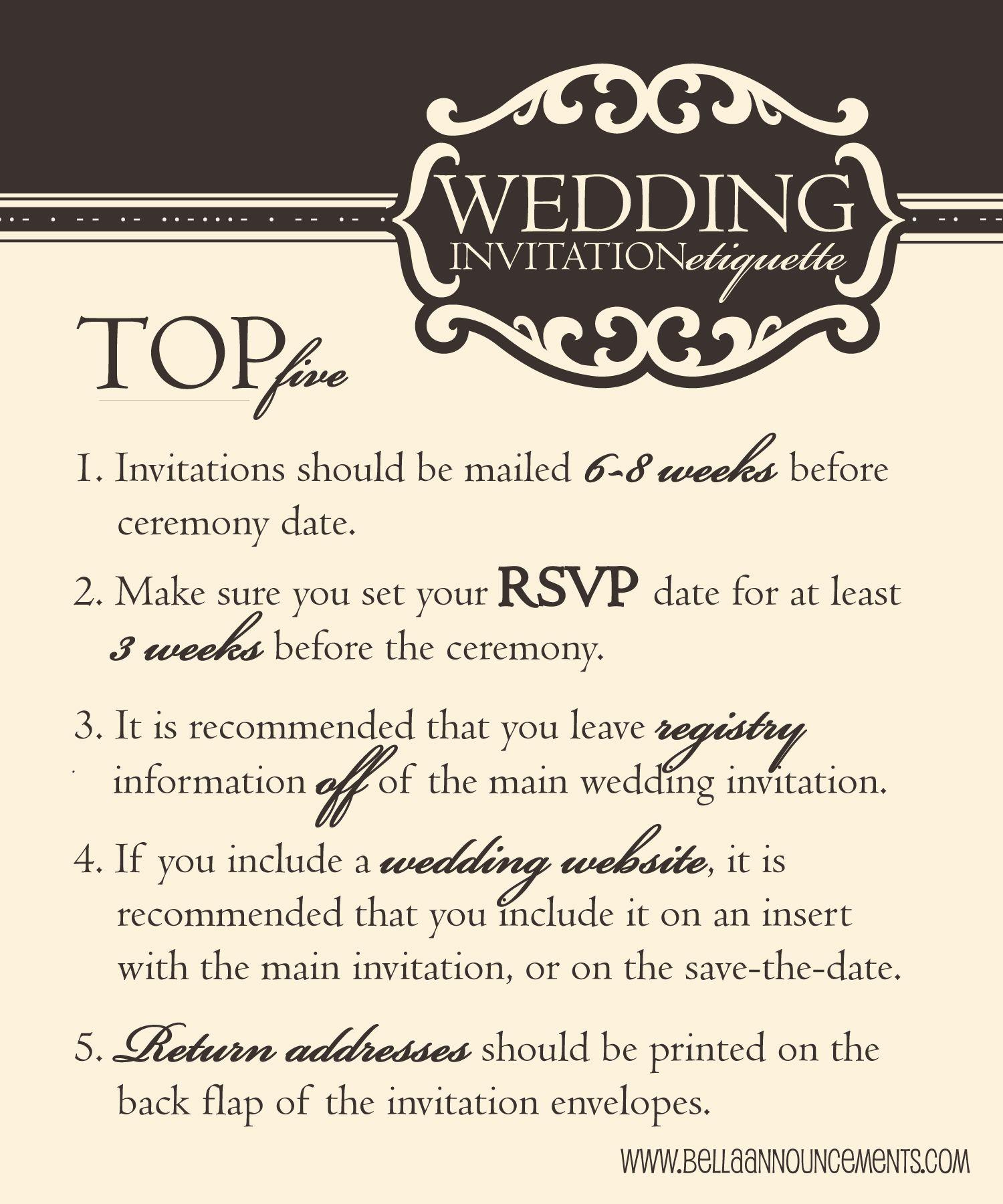 wedding etiquette, top five wedding etiquette Wedding