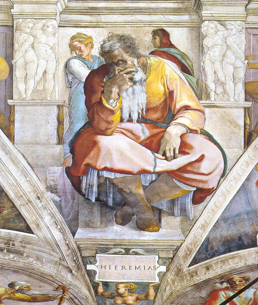 Jeremiah As Depicted By Michelangelo From The Sistine
