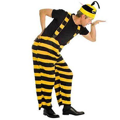 Herren Kostum Biene Tragerhose Gr Xxl Mottoparty Karneval Kostum
