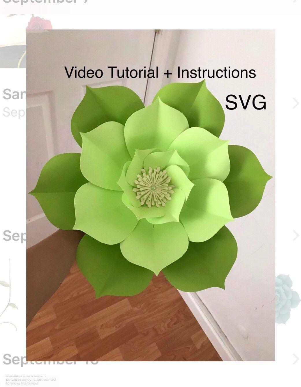 Paper Flower Template SVG 3D Flower Svg Paper Flowers Svg Flower Svg Files Large Paper Flowers Template Svg Giant Paper Flowers #easypaperflowers