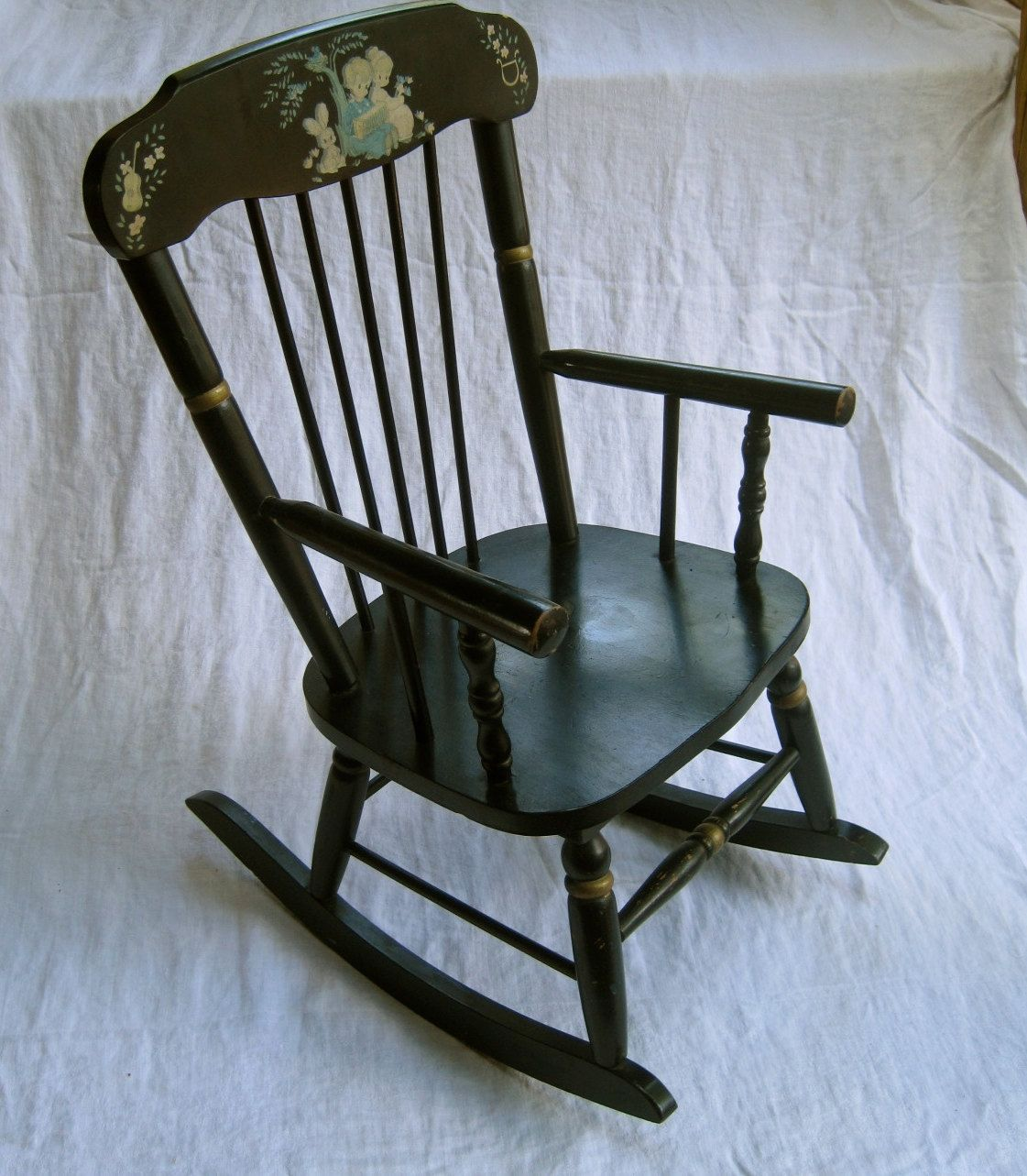 pictures vintage children's rocking chair | Children's musical rocking chair  - vintage, made by Ramsdell - Pictures Vintage Children's Rocking Chair Children's Musical