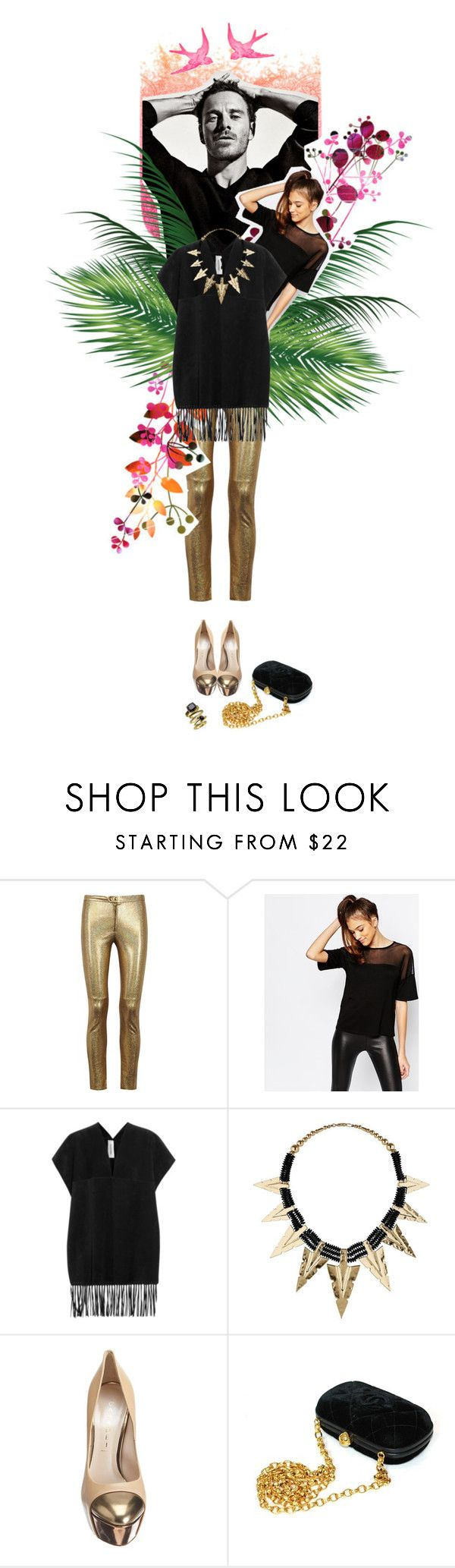 """""""Senza titolo #731"""" by labdesign ❤ liked on Polyvore featuring Isabel Marant, Daisy Street, Valentino, Casadei, Chanel and Ariella Collection"""
