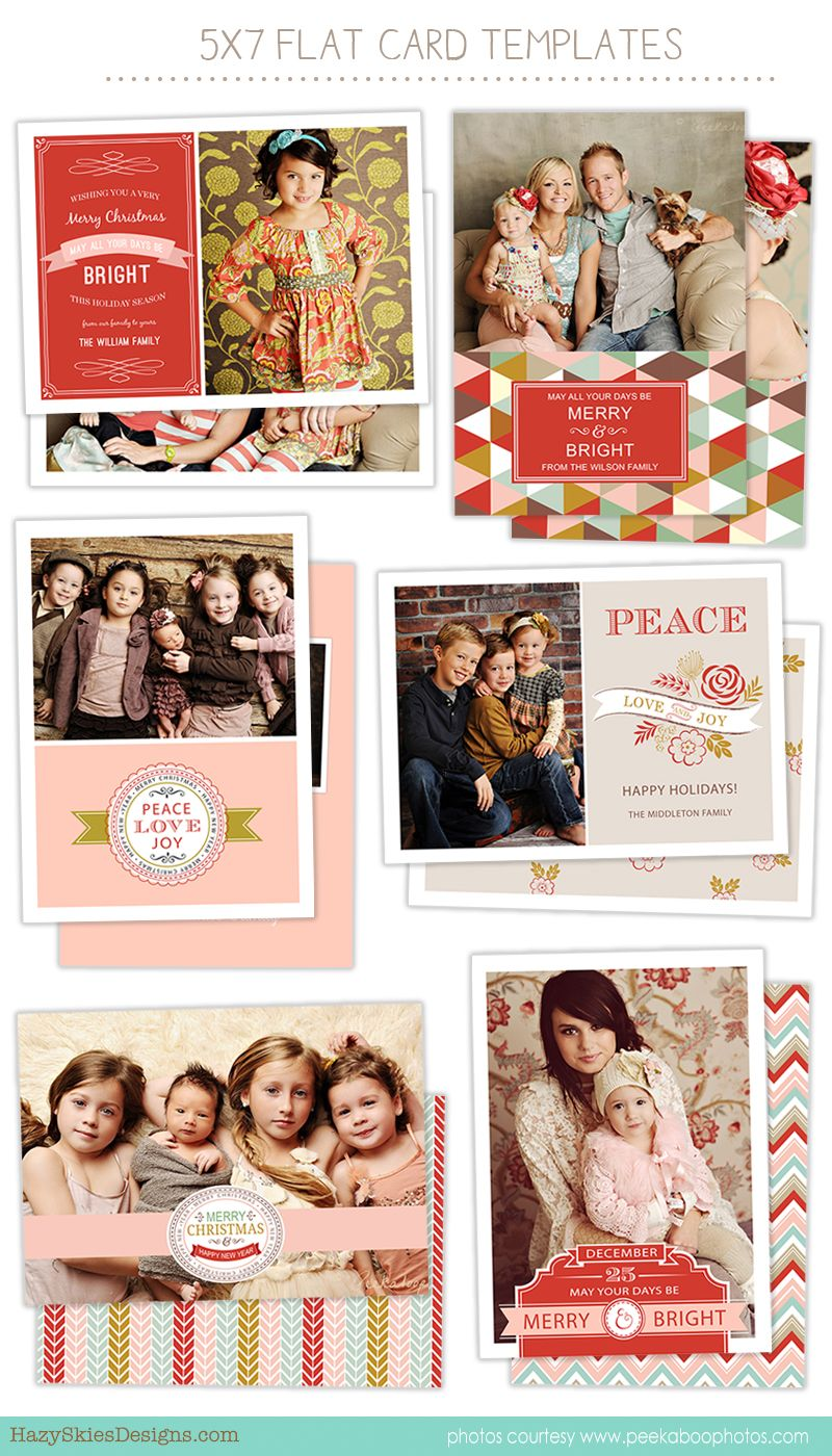 Christmas Holiday Card Templates For Photographers Holiday Card Template Christmas Card Template Card Templates