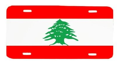 Lebanon Lebanese Flag License Plate Metal Wall Sign by BlingSity, $14.95