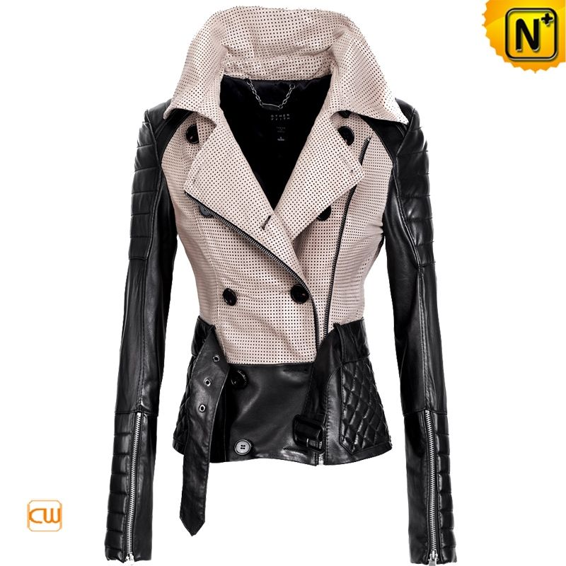 Outerwear for Women | Leather Designer Jackets Women's Slim Belt ...