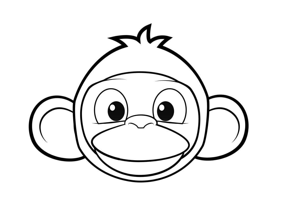 Coloring Pages Of Monkeys Printable Monkey Coloring Pages Animal Masks For Kids Monkey Face