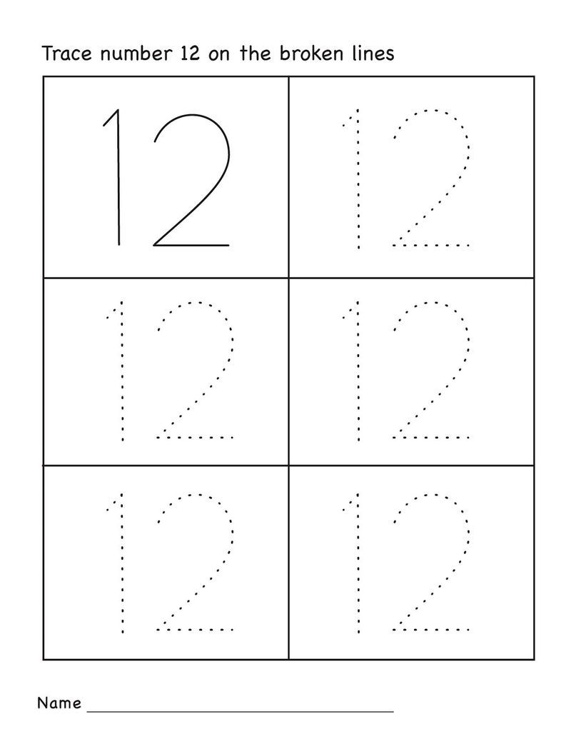 Number 12 Worksheet Kindergarten 001   School coloring ...