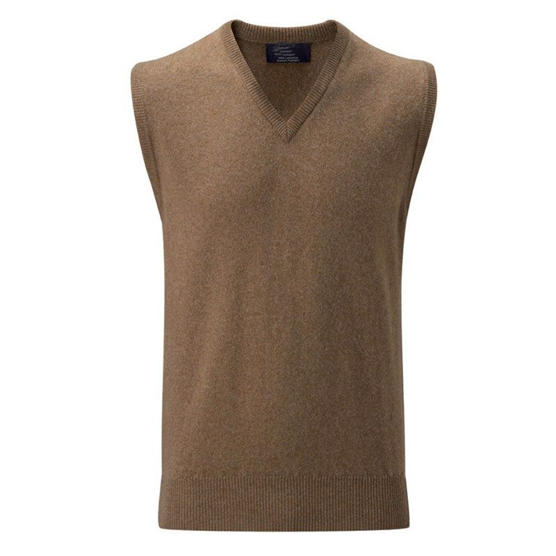 Men's Lambswool Sleeveless Sweater