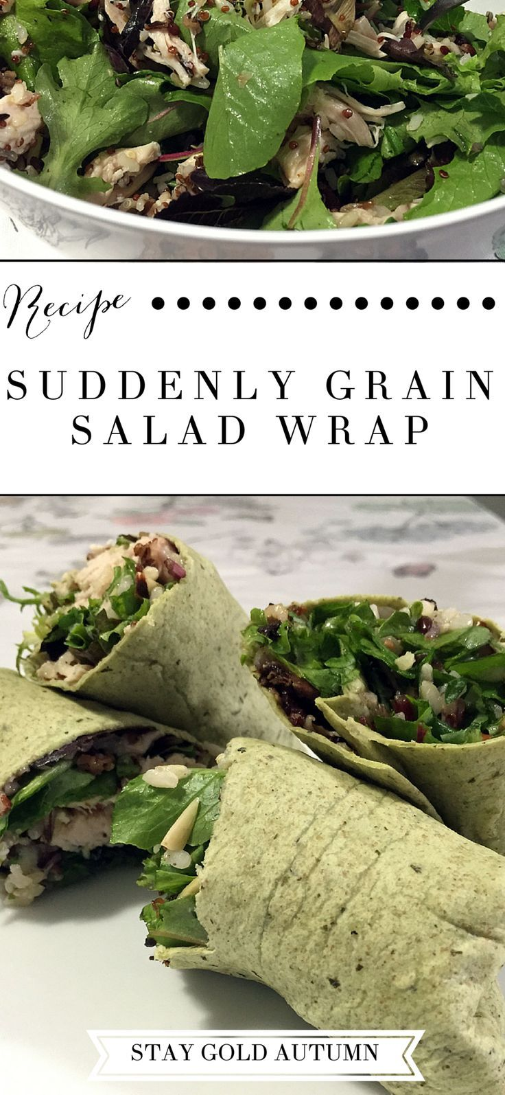 Our restaurant fast + Suddenly Grain salad wrap recipe: we're going to start eating at home... a whole lot more for the next month! |Stay gold Autumn