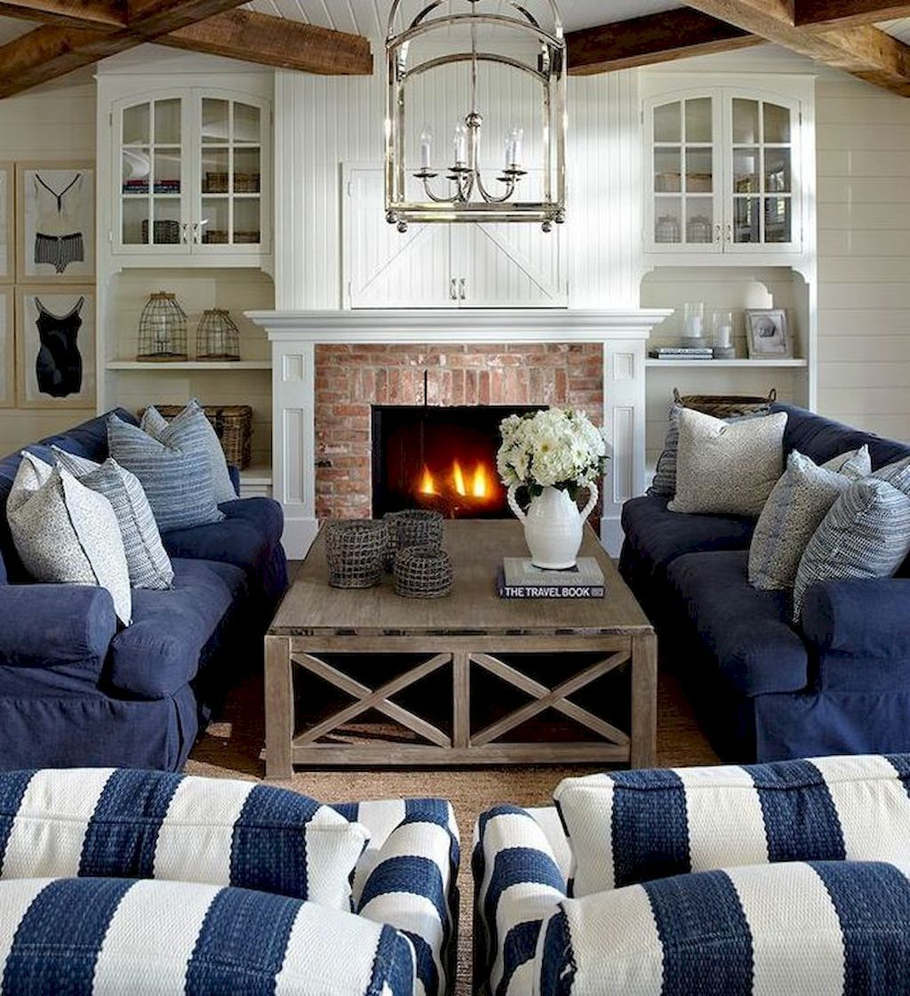 Cozy Coastal Living Room: Cozy Coastal Living Room Decorating Ideas (56) Cape Cod