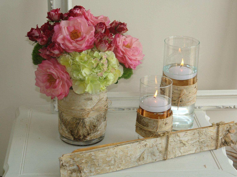 Natural Birch Bark Sheets For Candle Vases Wedding Flower