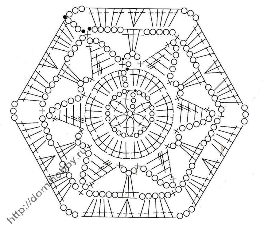 Hexagonal two-tone motif crochet   Crochet   Pinterest   Ganchillo ...