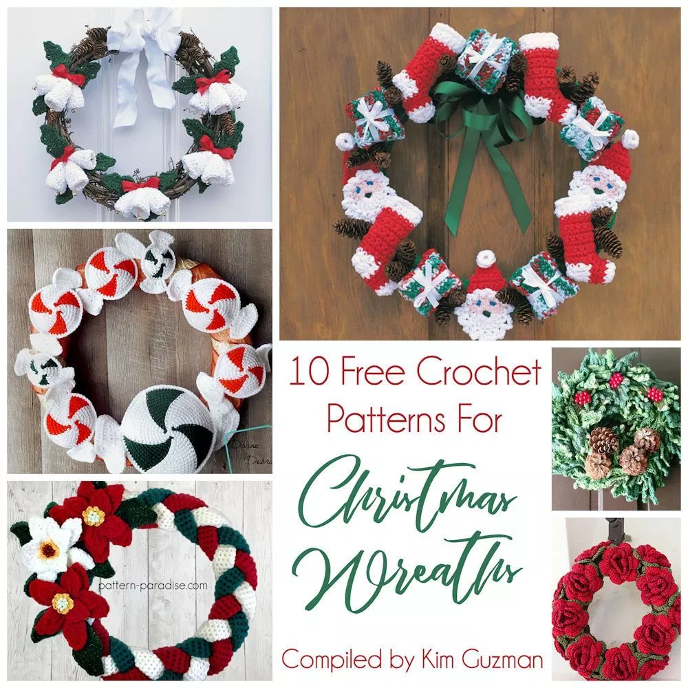 Photo of Link Blast: 10 Free Crochet Patterns for Christmas Wreaths