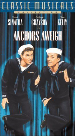 Anchors Aweigh: Two sailors, one naive, the other experienced in the ways of the world, on liberty in Los Angeles, is the setting for this movie musical.