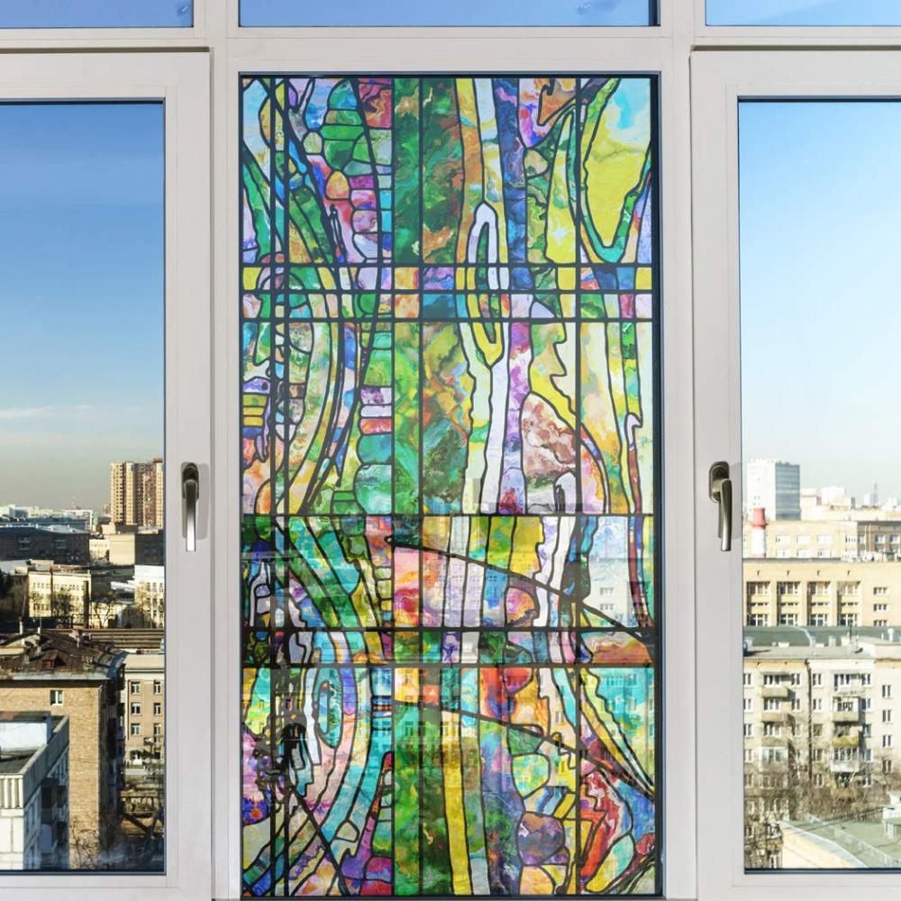 Amazon Com Royalwallskins Non Adhesive Decorative Privacy Window