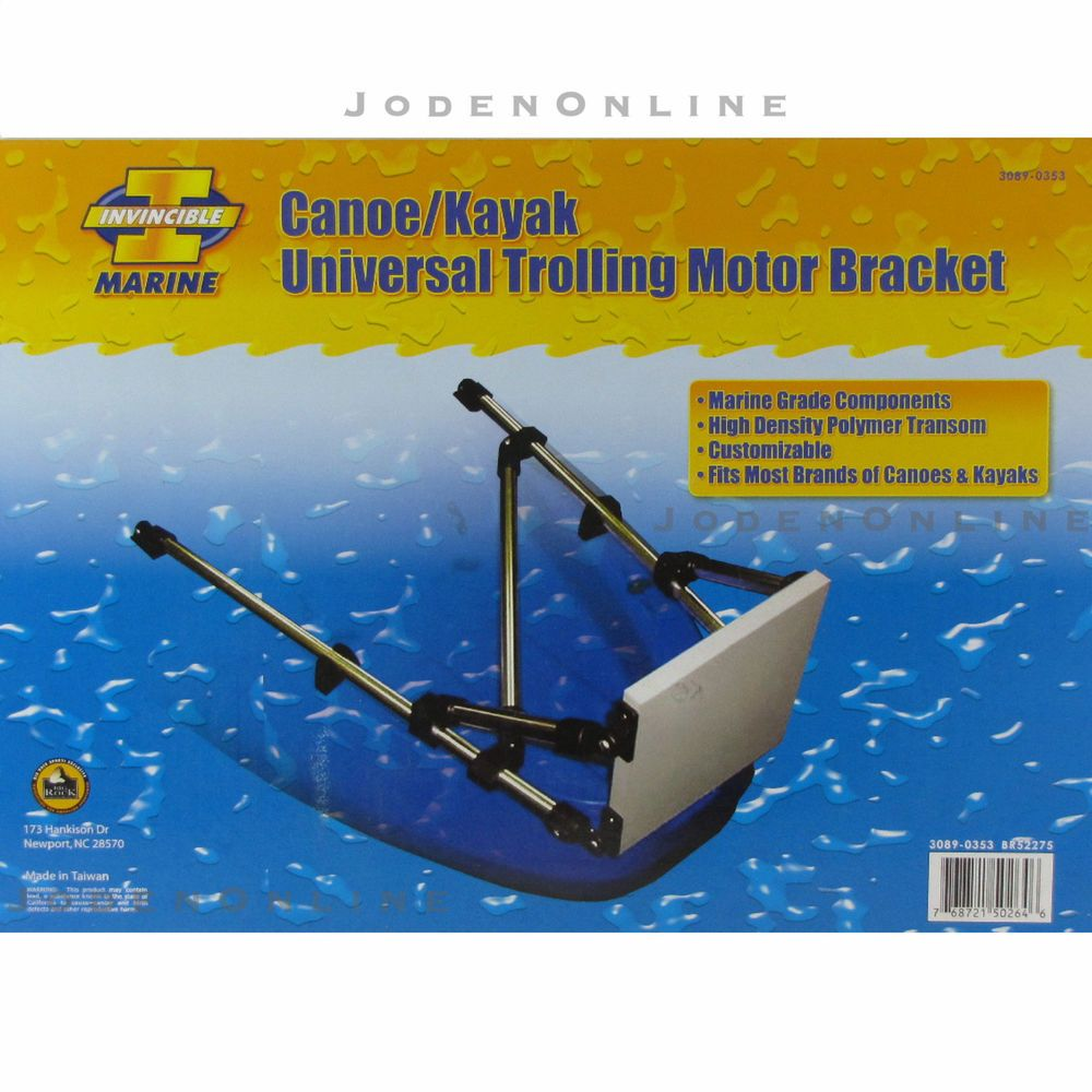 Universal Polymer Transom Canoe Kayak Trolling Motor Mount Bracket Minn Kota Wiring Diagram Motorcycle Review And In Sporting Goods Water
