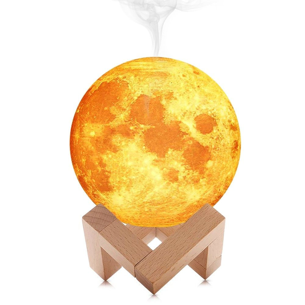 880ml 3d Moon Shaped Air Humidifier Myshophome Air Humidifier Humidifier Aroma Essential Oil