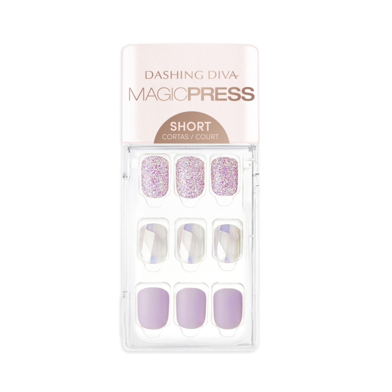 Magic Press Op Nails Lilac Ice Acrylbruiloftnagels Natuurlijkebruiloftnagels In 2020 Press On Nails Nail Kit Stick On Nails