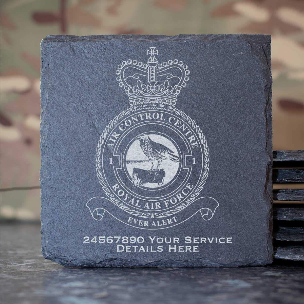 RAF 1 Air Control Centre Slate Coaster (261) -