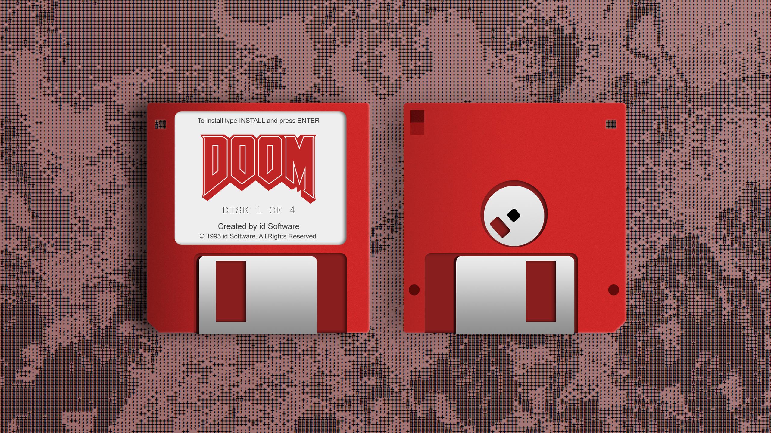 Floppy Doom 2560x1440 Oc Doom Floppy Disk R Wallpaper
