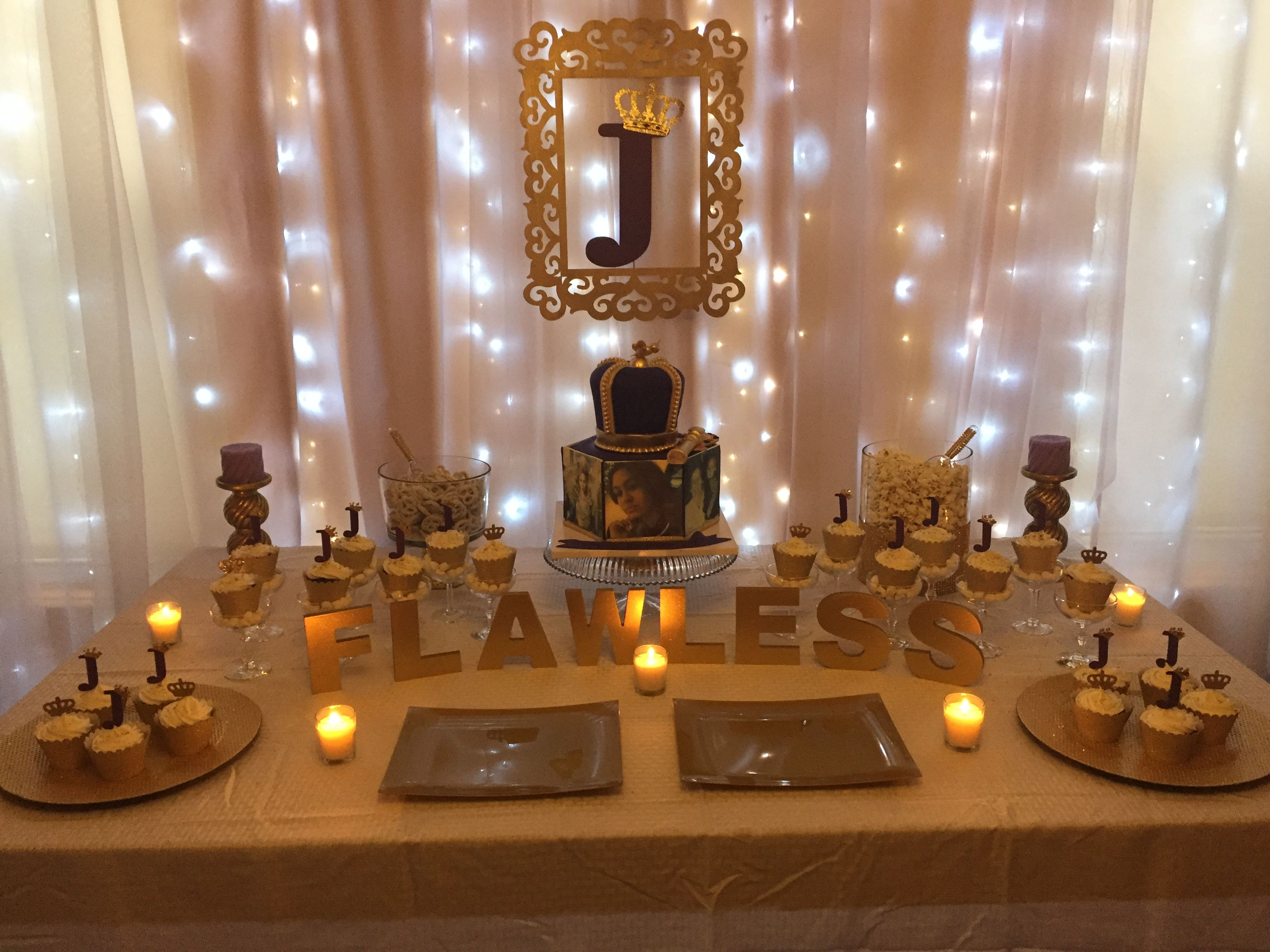 Cake Table Beyonce Themed 21st Birthday With Images Lemonade