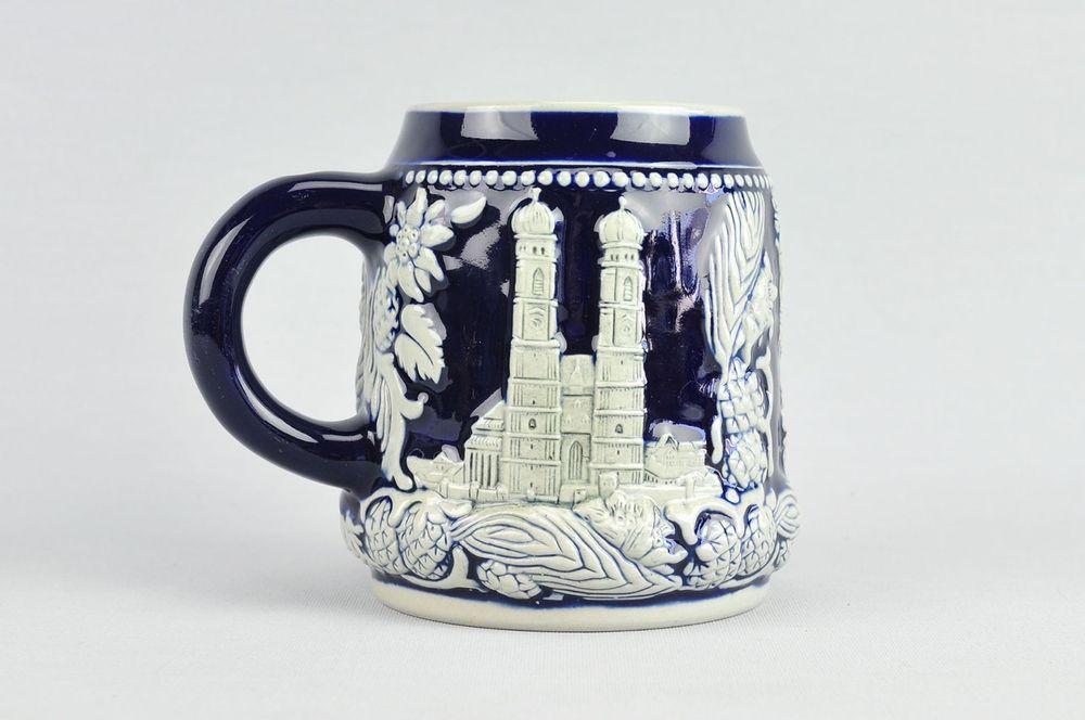 Steingut Keramik wekara münchen humpen bierkrug keramik steingut frauenkirche