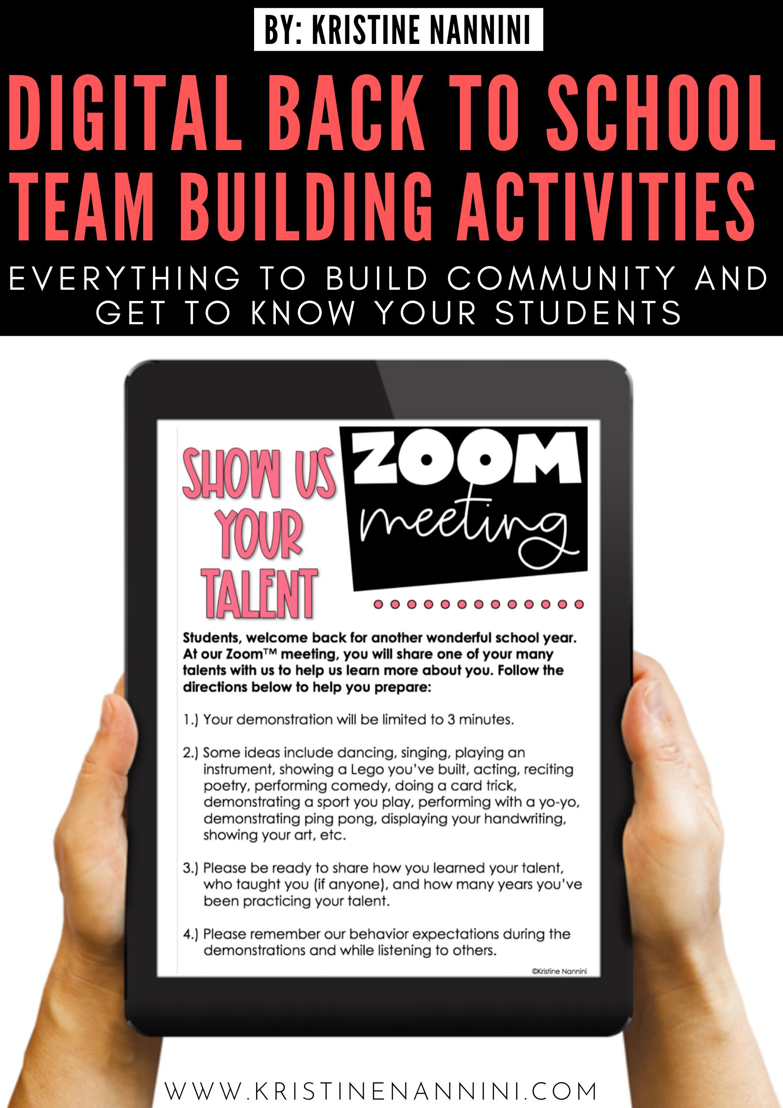 Virtual Team Building in 2020 School team building