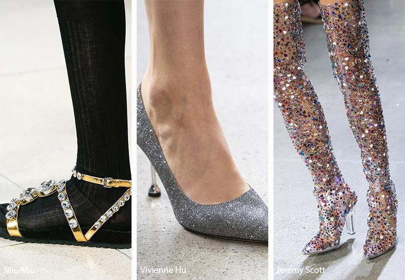 a6e474d9034e Spring  Summer 2019 Shoe Trends  Bejeweled and Glitter Shoes   Sandals
