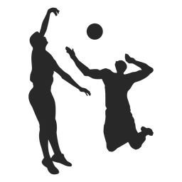 Male Volleyball Players Silhouette