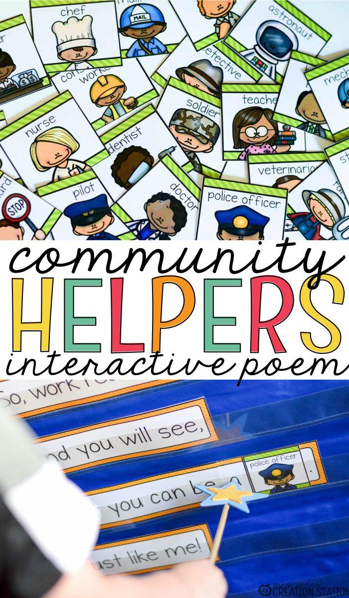 community helpers interactive poem community helpers poem and
