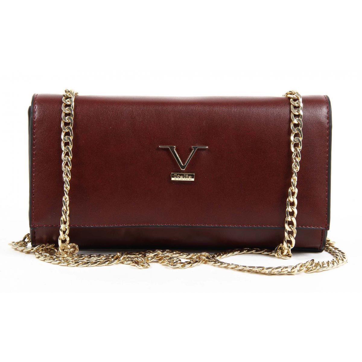 Versace 1969 Abbigliamento Sportivo Srl Milano Italia Womens Handbag VE011 CLARET  RED 4a0d15e386267