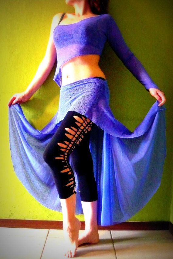 Deep Periwinkle Tribal Fusion Belly Dance Costume by Artemisya, €52.00
