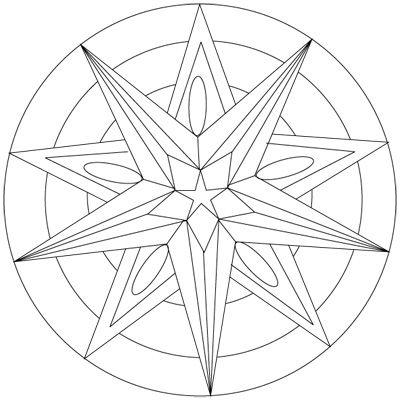 Mandala Etoile Coloriage Mandala Gratuit A Imprimer Mandala