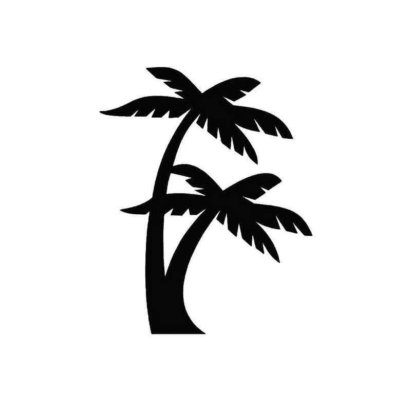 Palm Trees Beach Ocean Vinyl Decal Sticker Turtle Tattoo Designs
