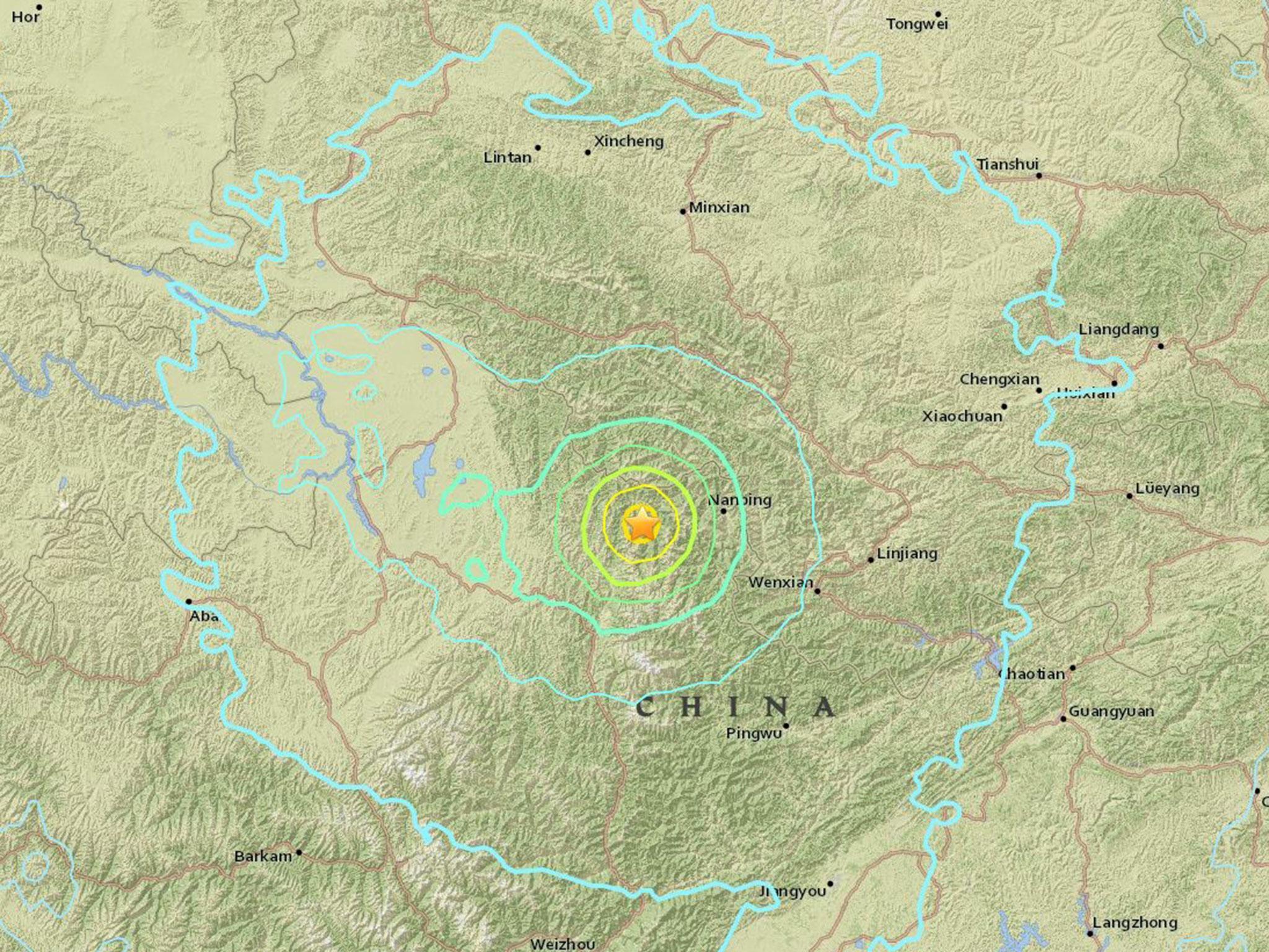 California Quake Map Usgs%0A Sichuan earthquake      feared dead as magnitude     tremor strikes central  China