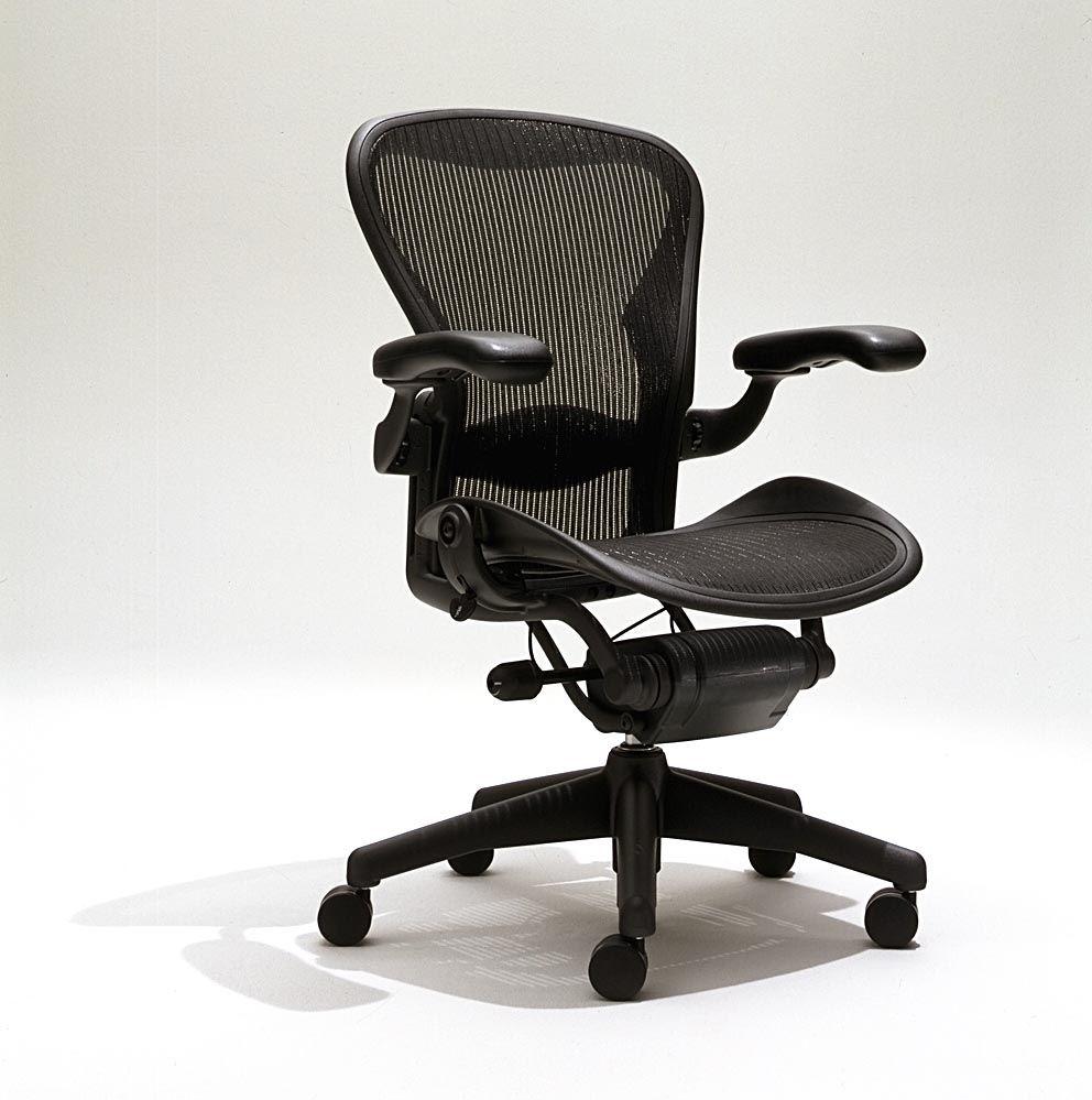 fully adjustable office chair. Herman Miller Aeron Mesh Office Desk Chair Medium Size B Fully Adjustable Lumbar