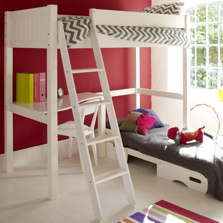 Warwick Silk White High Sleeper Bed With Futon - Aspace