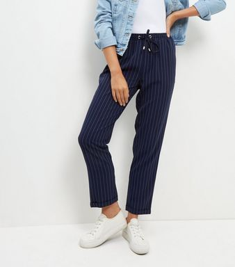 Navy trousers new look