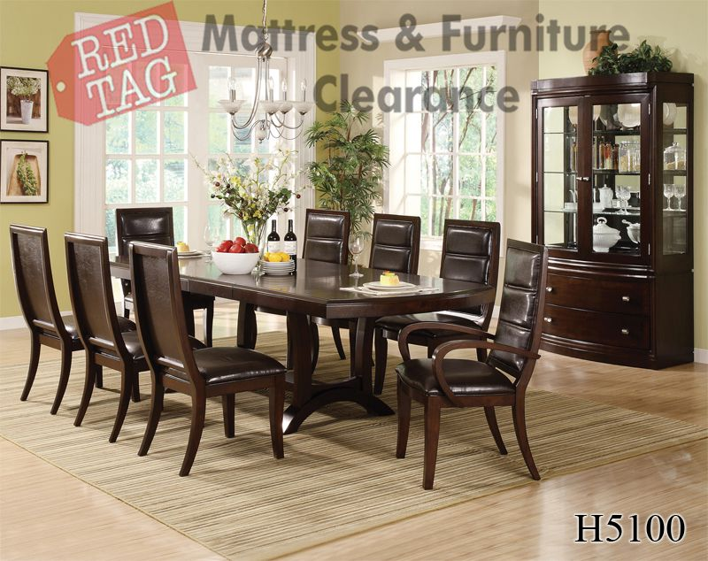 1 839 99 Crown Mark Fifth Avenue 7 Piece Dining Table Set H5100 7 Piece Dining Table Dining Table Setting Table
