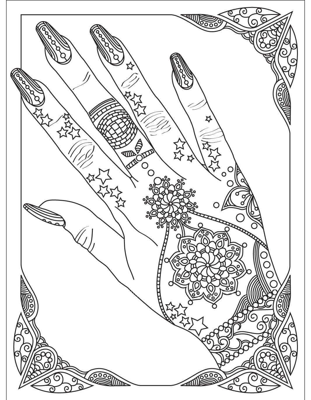Nails Colorish Coloring Book App For Adults By Goodsofttech Coloring Books Coloring Book App Cool Coloring Pages