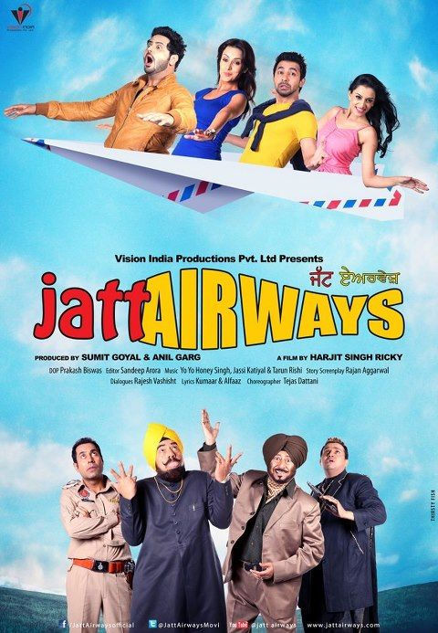 Watch Jatt Airways (2013) Punjabi Movie DVDScr XviD (Audio Cleaned) Online Free [IcTv]