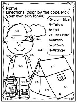 Touch Point Worksheet Summer Free. Touch Math is a great