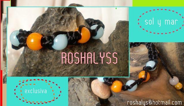 Las Manualidades de Roshalyss: pulsera - sol y mar