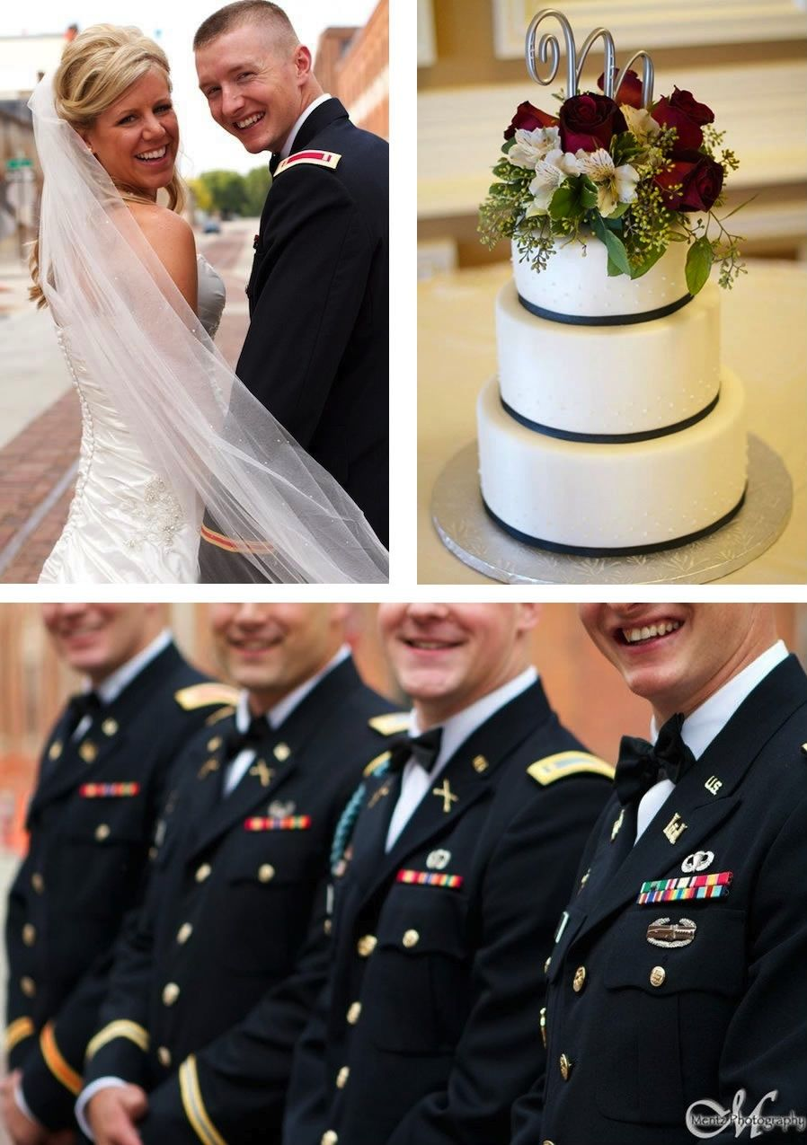 Mentz Photography Captured Our April Featured Wedding Couple Amanda And Clint Military Iowa Dubuque Wedd Dress Blues Army Military Dress Blue Army Dress [ 1275 x 898 Pixel ]