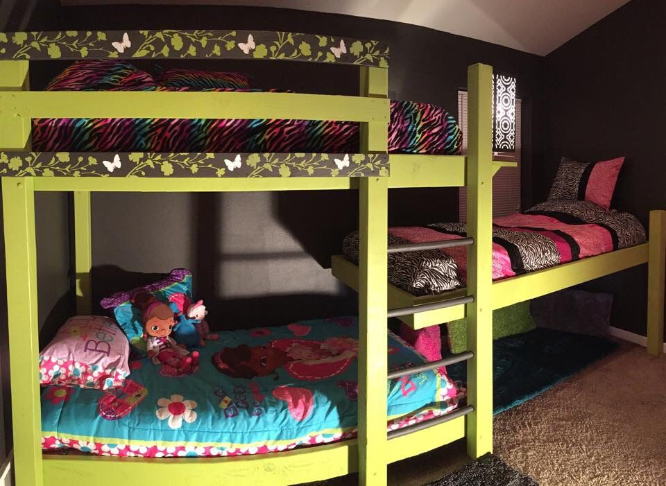The Triple Bunk Beds We Built For Our Girls Girls Bunk Beds