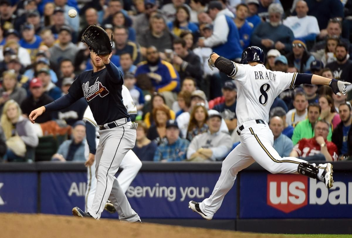 Mlb Umpire S Call Overturned For First Time Using Expanded Instant Replay Atlanta Braves High School Baseball Ryan Braun