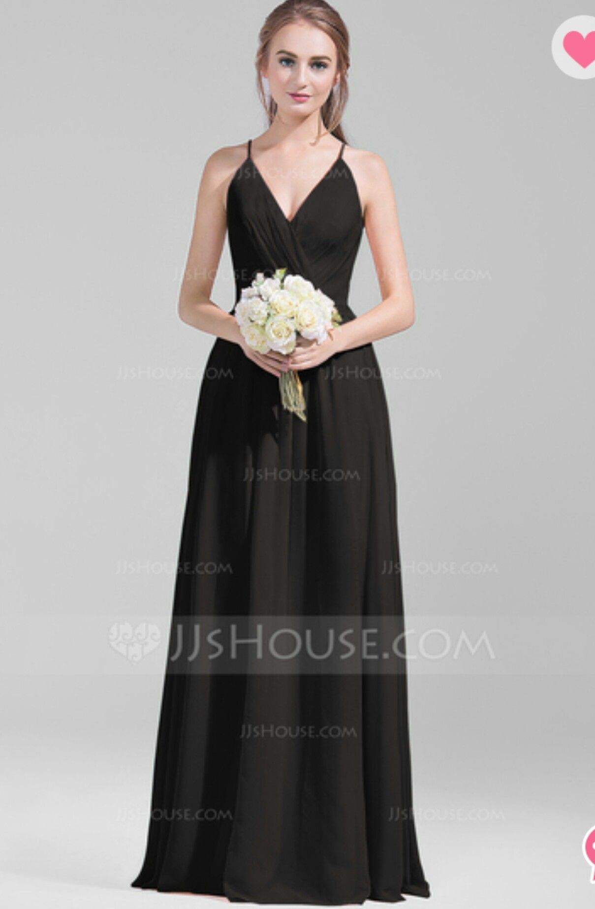Bridesmaids dress in black or red from jjs house wedding official