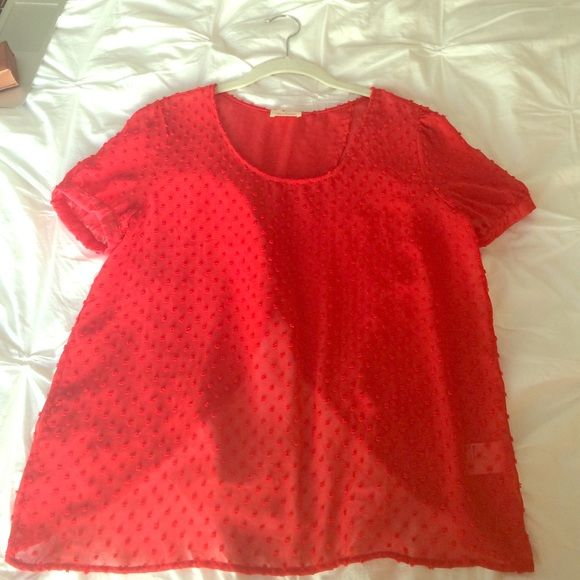 Urban outfitters sheer open back top Purchased at urban outfitters. Sheer red top with open back. Urban Outfitters Tops
